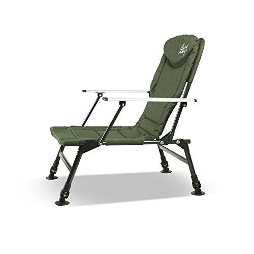 Lucx® 2er Set Angelstuhl / Karpfenstuhl / Fishing Chair / Arm Chair / Stuhl / Campingstuhl / Gartenstuhl 'Eco Plus' (mit Armlehnen) - 2