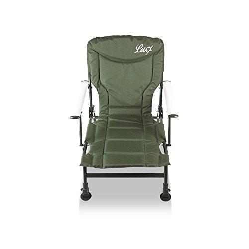 Lucx® 2er Set Angelstuhl / Karpfenstuhl / Fishing Chair / Arm Chair / Stuhl / Campingstuhl / Gartenstuhl 'Eco Plus' (mit Armlehnen) - 3