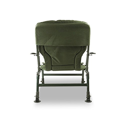 Lucx® 2er Set Angelstuhl / Karpfenstuhl / Fishing Chair / Arm Chair / Stuhl / Campingstuhl / Gartenstuhl 'Eco Plus' (mit Armlehnen) - 4